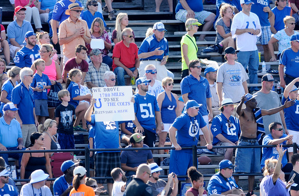 Don Knight   The Herald Bulletin<br /> Colts Camp at Anderson University on Tuesday.