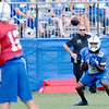 Don Knight | The Herald Bulletin<br /> Wide receiver T.Y. Hilton catches a pass from Andrew Luck during Colts Camp practice at Anderson University on Friday.