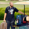 John P. Cleary | The Herald Bulletin<br /> Bjoern Werner gathers his bags to take into the dorm after arriving to Colts Camp Wednesday morning at AU.