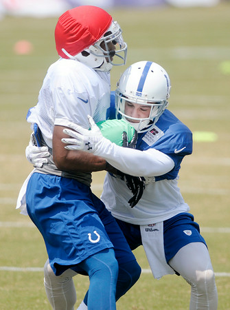 Don Knight | The Herald Bulletin<br /> Colts practice at AU on Friday.