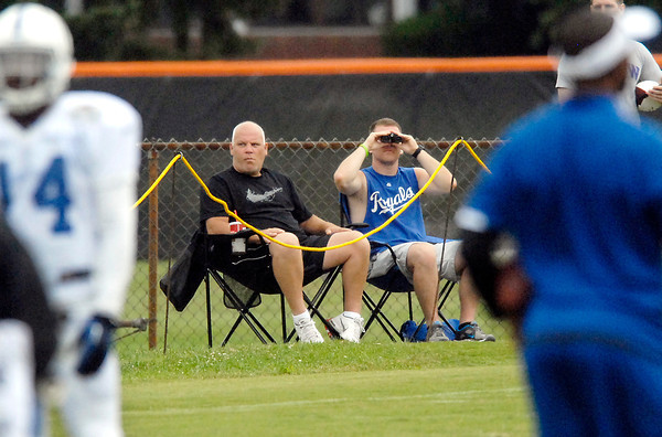 These Colts fans went to the north end of the practice field where they could setup their portable chairs to watch practice instead of sitting in the bleachers.