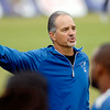John P. Cleary | The Herald Bulletin<br /> Colts head coach Chuck Pagano gives directions during practice.