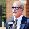 Don Knight | The Herald Bulletin<br /> Colts owner Jim Irsay made donations to five different Madison County charities during Colts Camp at AU on Sunday.
