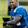 John P. Cleary | The Herald Bulletin<br /> Colts D'Qwell Jackson takes a break during Tuesday's practice.