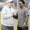 Don Knight | The Herald Bulletin<br /> Colts practice on Saturday.