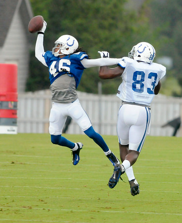 Don Knight | The Herald Bulletin<br /> Colts Camp at AU on Tuesday.