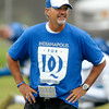 "Don Knight | The Herald Bulletin<br /> Head coach Chuck Pagano wear an ""Indianapolis for DQ"" shirt in support of the Texans' David Quessenberry who is battling lymphoma."