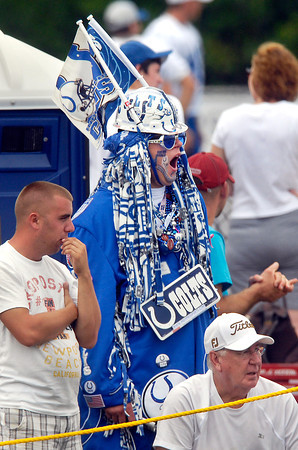 It was a long day for this Colts fan as he gives out a big yawn.