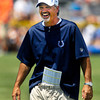Colts head coach Chuck Pagano was having fun during Tuesday's practice.