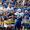 Colts wide receiver Reggie Wayne had fun with the fans when he got close to them during practice Friday.