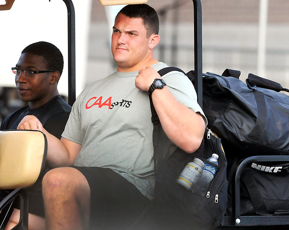 John P. Cleary   The Herald Bulletin<br /> Colts first round draft pick center Ryan Kelly reporting to camp.