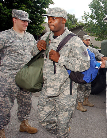 Indianapolis Colts wide receiver Reggie Wayne reported to training camp escorted by the 38th Aviation Brigade Recruiting Command from Shelbyville dressed in full military fatigues and arriving in Humvees.