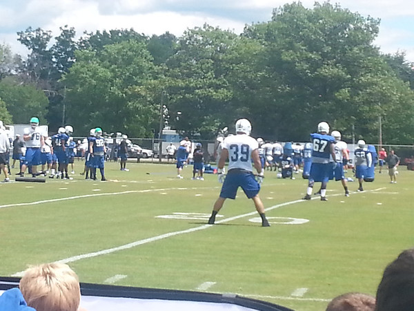 The Colts practice at training camp.<br /> <br /> Photographer's Name: Leslie Taylor<br /> Photographer's City and State: Anderson, Ind.