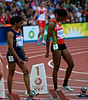 One of the Women's 100m semi-finals