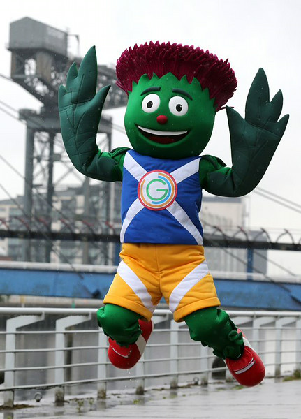 This is Clyde the official mascot of the 20th Commonwealth Games in Glasgow 2014