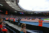 A view of the athletics track in Hampden Park