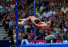 One of the high jumpers at the other end of the stadium