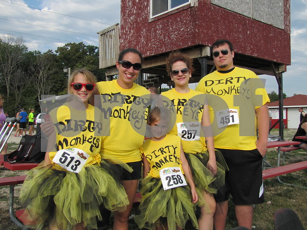 Members of Team 'Dirty Monkeys' are Anna and Pam Harmon, Lola and Jasmine Klien, and Gary Whitcomb.