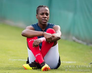 Trinidad & Tobago forward Kennya Cordner (19)
