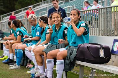 Mexico defender Rebeca Bernal (13) and Mexico midfielder Cristina Ferral (16)