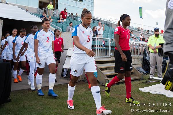 Panama defender Hilary Jaen (2) and Panama defender Yomira Pinzon (5)