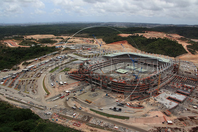 The Arena Pernambuco stadium near Recife, Brazil. The stadium is site of both the Confederations Cup 2013 and World Cup 2014. (Australfoto/Douglas Engle)