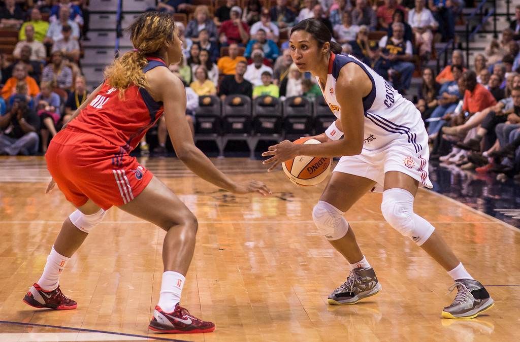 Washington Mystics versus the Connecticut Sun at Mohegan Sun Arena in Uncasville, CT on September 6, 2013. Photo by Chris Poss. Copyright 2013 Chris Poss.