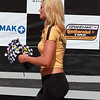 2012 Continental Tire Girl Handing Out Sunoco Flags in Victory Lane Grand-Am Racing Barber Motorsports Park Alabama