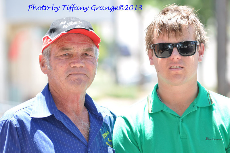 Richard with Fairfax Regional Media journalist Oliver Watson outside the Yass Tribune office in Yass 2013.