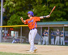 Cortland Crush Anthony Searles (2) before an at bast against the Syracuse Salt Cats on Greg's Field at Beaudry Park in Cortland, New York on Wednesday, June 29, 2016. Cortland won 5-4 in 13 innings.