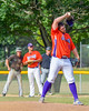 Cortland Crush Dylan Crossley (55) on the mound against the Sherrill Silversmiths on Greg's Field at Beaudry Park in Cortland, New York on Thursday, July 21, 2016.