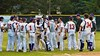 Cortland Crush players celebrating a win over the Syracuse Junior Chiefs on Greg's Field at Beaudry Park in Cortland, New York on Friday June 5, 2015. Cortland won 5-2.