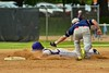 Cortland Crush Jose Arebalo (7) slides into second base against the Syracuse Junior Chiefs on Greg's Field at Beaudry Park in Cortland, New York on Friday June 5, 2015. Cortland won 5-2.