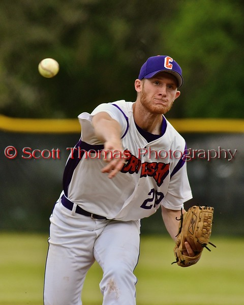 Cortland Crush Yale Brian Hughes (28) pitching against the Syracuse Junior Chiefs on Greg's Field at Beaudry Park in Cortland, New York on Friday June 5, 2015. Cortland won 5-2.