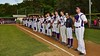 Cortland Crush players line up for the National Anthem before playing the Syracuse Junior Chiefs on Greg's Field at Beaudry Park in Cortland, New York on Friday June 5, 2015.