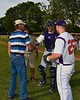 Cortland Crush opening ceremonies before playing the Syracuse Junior Chiefs on Greg's Field at Beaudry Park in Cortland, New York on Friday June 5, 2015.