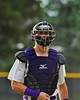 Cortland Crush catcher Chris Mattison (20) before an inning against the Syracuse Junior Chiefs on Greg's Field at Beaudry Park in Cortland, New York on Friday June 5, 2015. Cortland won 5-2.