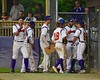 Cortland Crush players celebrate taking the lead against the Syracuse Junior Chiefs on Greg's Field at Beaudry Park in Cortland, New York on Friday June 5, 2015. Cortland won 5-2.