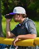 Cortland Crush Multimedia Sports Director Sam Bloomquist with his video camera as the Crush play the Syracuse Junior Chiefs on Greg's Field at Beaudry Park in Cortland, New York on Sunday June 7, 2015. Syracuse won 11-8.