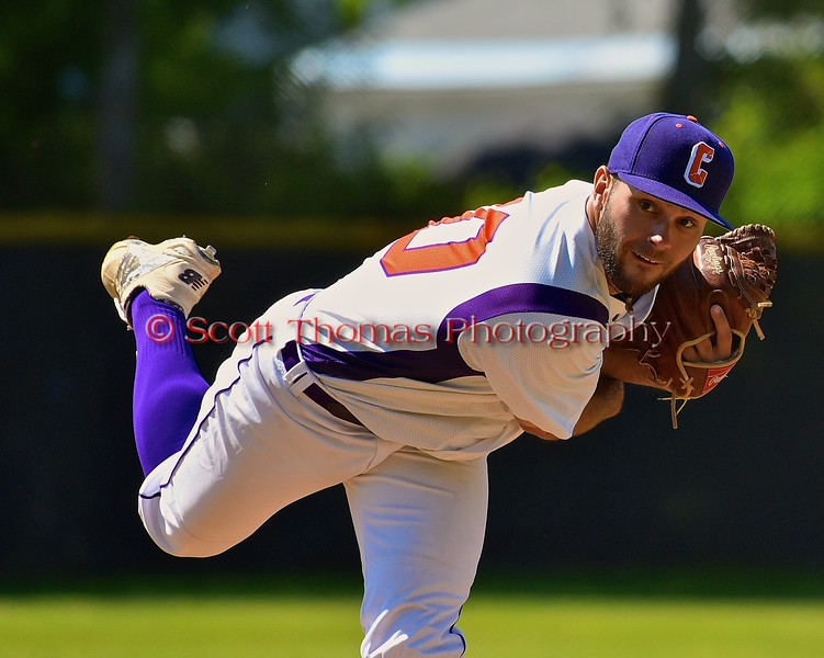 Cortland Crush Chris Rupprecht (10) pitching against the Syracuse Junior Chiefs on Greg's Field at Beaudry Park in Cortland, New York on Sunday June 7, 2015. Syracuse won 11-8.