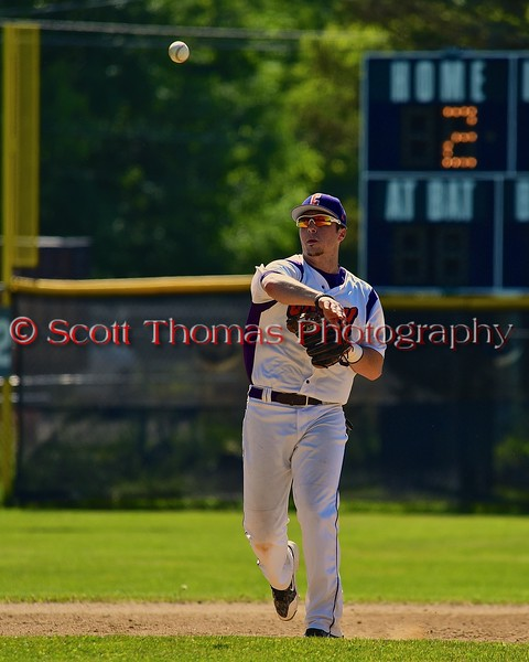 Cortland Crush Matthew Alberino (5) warming up before the start of an inning against the Syracuse Junior Chiefs on Greg's Field at Beaudry Park in Cortland, New York on Sunday June 7, 2015. Syracuse won 11-8.
