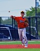 Cortland Crush Nick Panissidi (31) throwing the ball against Syracuse Salt Cats in Syracuse, New York on Wednesday June 10, 2015.  Syracuse won 5-2.