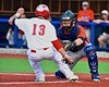 Cortland Crush George Haaland (34) tagging out Syracuse Salt Cats Johnny Knight IV (13) at Home in Syracuse, New York on Wednesday June 10, 2015.  Syracuse won 5-2.