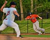 Cortland Crush Matthew Alberino (5) takes off for second against the Syracuse Salt Cats in Syracuse, New York on Wednesday June 10, 2015.  Syracuse won 5-2.