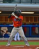Cortland Crush Terrell Barringer (23) at a bat against the Syracuse Salt Cats in Syracuse, New York on Wednesday June 10, 2015.  Syracuse won 5-2.