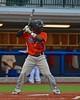 Cortland Crush Terrell Barringer (23) at a bat against the Syracuse Salt Cats in Syracuse, New York on Wednesday June 10, 2015.  Syracuse won 5-2.