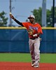 Cortland Crush Terrell Barringer (23) throwing the ball against the Syracuse Salt Cats in Syracuse, New York on Wednesday June 10, 2015.  Syracuse won 5-2.