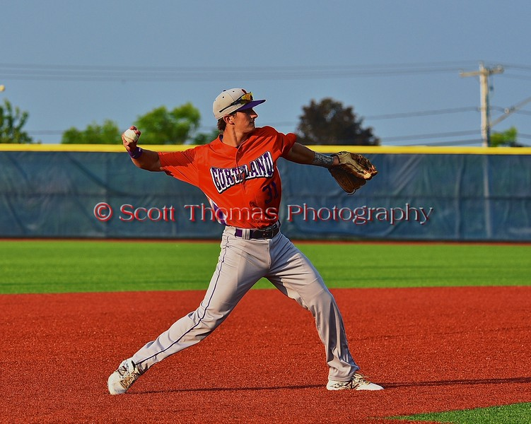Cortland Crush Nick Panissidi (31) warming up before an inning against the Syracuse Salt Cats in Syracuse, New York on Wednesday June 10, 2015.  Syracuse won 5-2.