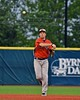 Cortland Crush Matthew Alberino (5) throwing the ball against the Syracuse Salt Cats in Syracuse, New York on Wednesday June 10, 2015.  Syracuse won 5-2.