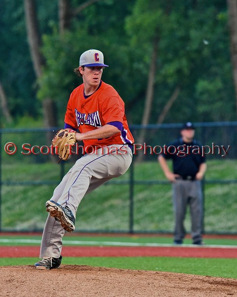 Cortland Crush Shae Edmonds (15) pitching against the Syracuse Salt Cats in Syracuse, New York on Wednesday June 10, 2015.  Syracuse won 5-2.